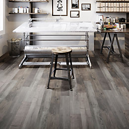 Grey Aged Pine Effect Waterproof Luxury Vinyl Click