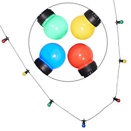 Blooma Chadwick Mains Powered Multicolour 10 LED String