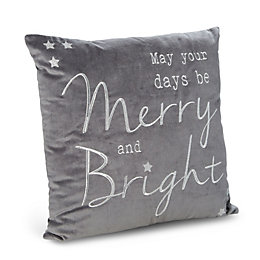 Jaelyn Merry & Bright Grey Cushion