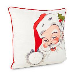 Eirine Santa White & Red Cushion