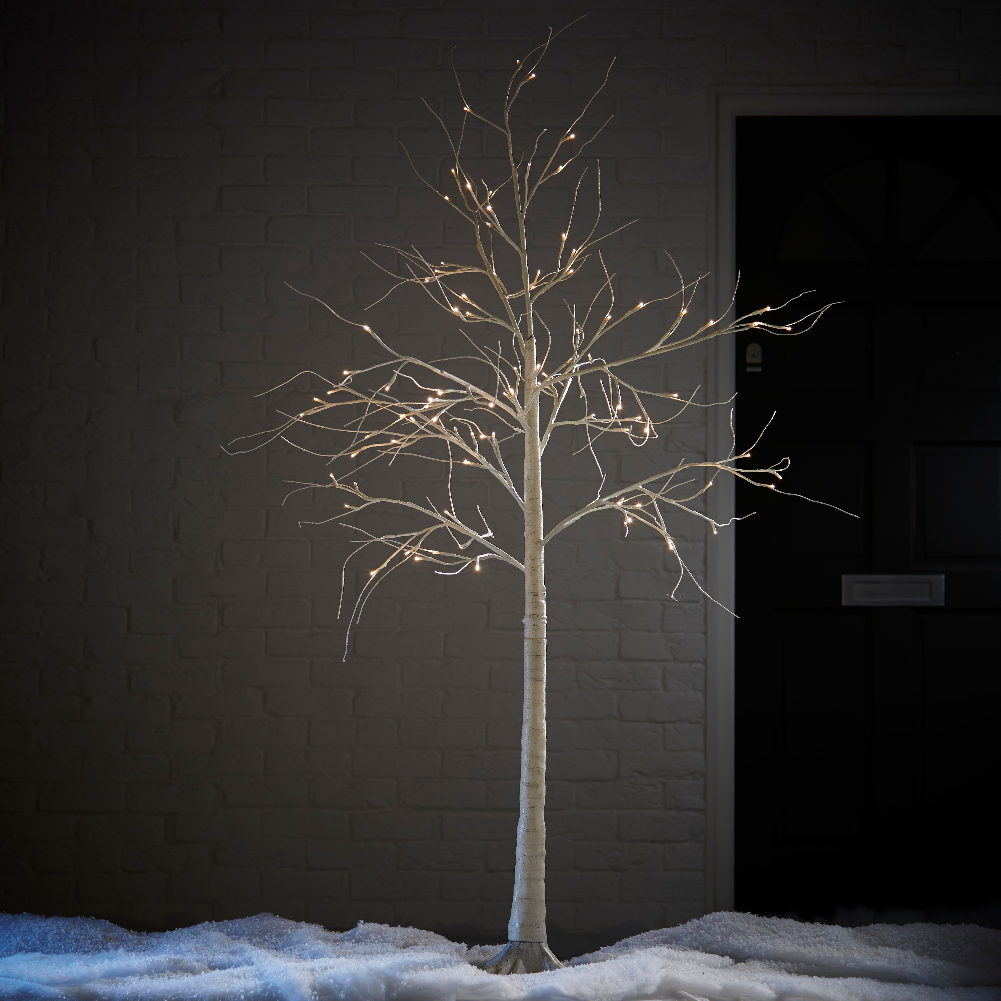 huge selection of 57dde bc90a 6 ft White Birch Pre-lit Christmas tree | Departments | DIY at B&Q