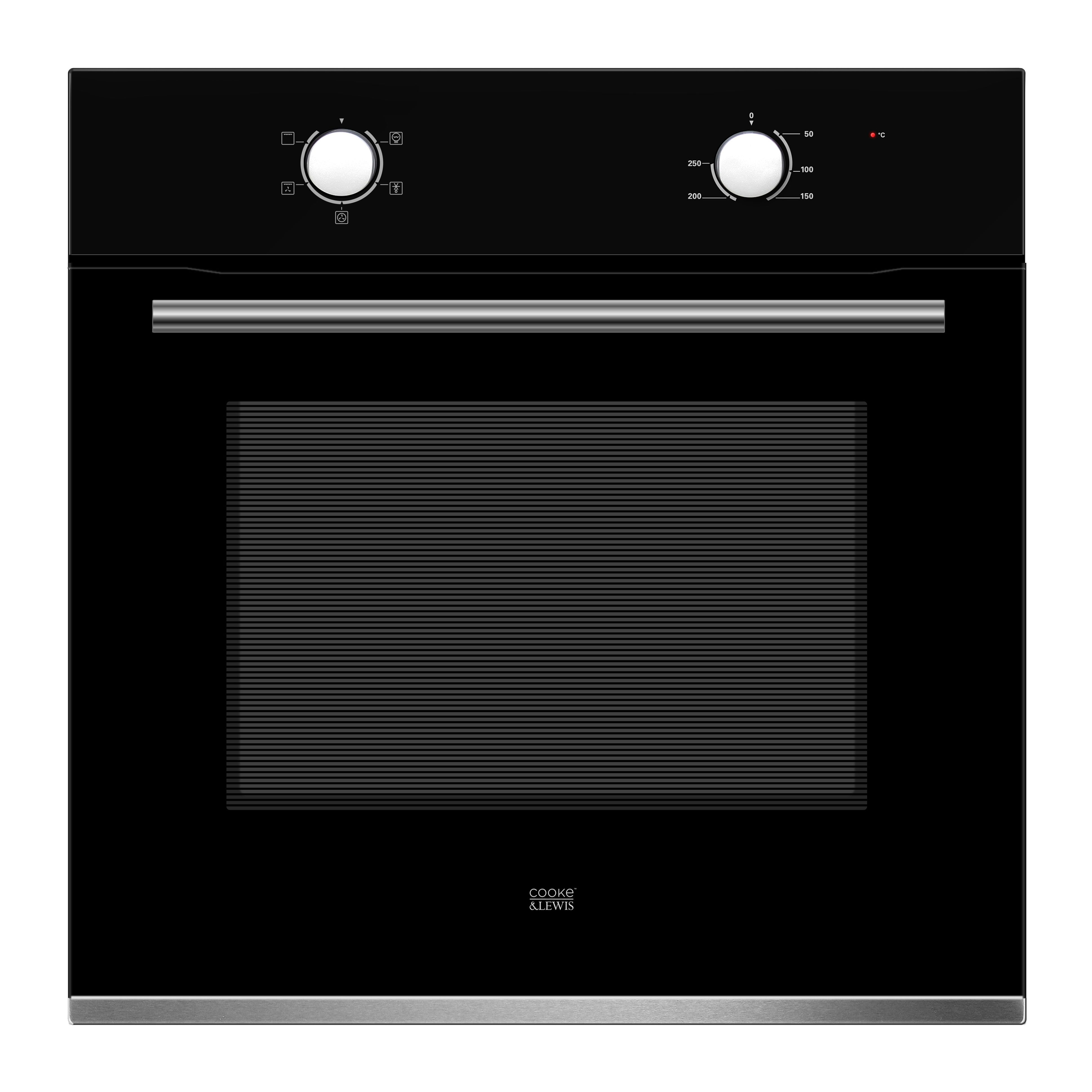 Cooke Lewis Clfnbk60 Black Electric Single Single Oven Departments Diy At B Q