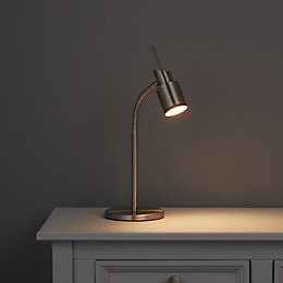 Annisa Satin Chrome Effect Table Lamp