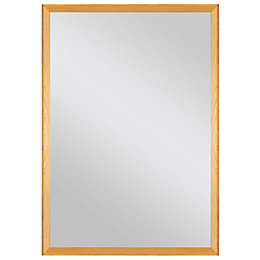 Colours Kahiwa Oak effect Framed Rectangular Mirror (W)