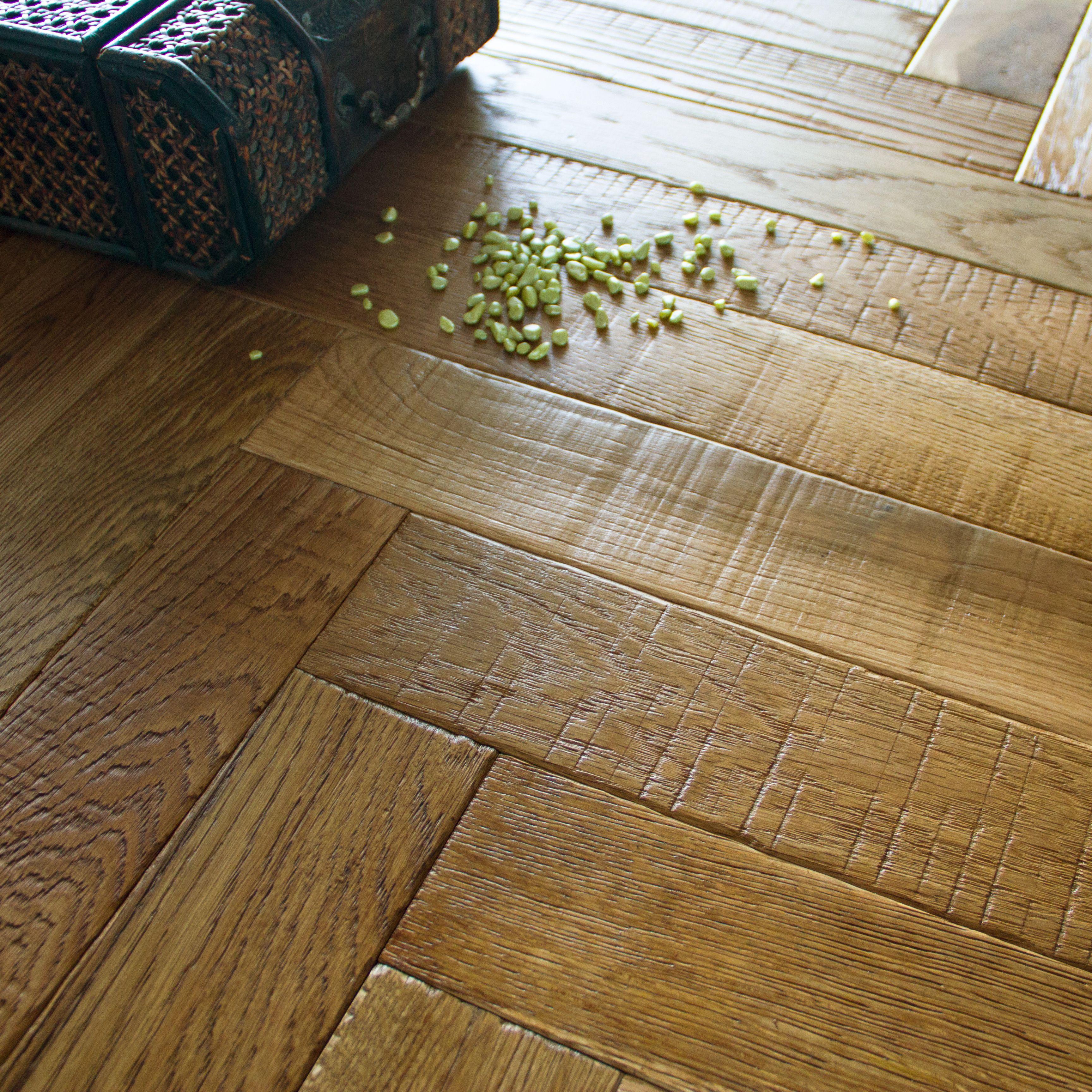 B Q Wood Floor: Colours Vindemia Herringbone Natural Oak Solid Wood