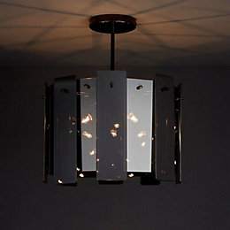 Jaulli Smoked 3 Lamp Pendant ceiling light
