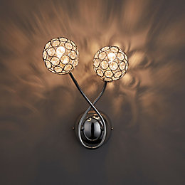 Lopez Chrome Effect Wall Light