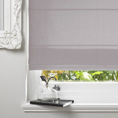 Colours Malle Corded Concrete Roman Blind (L)160 cm