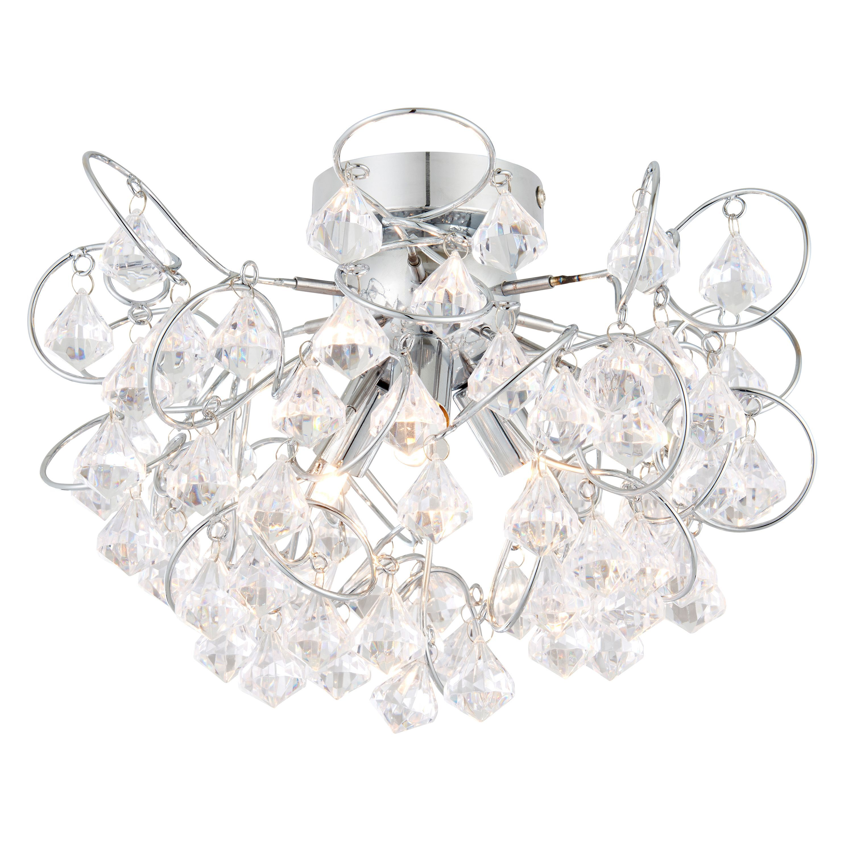 chesca chrome effect  lamp ceiling light departments diy  bq