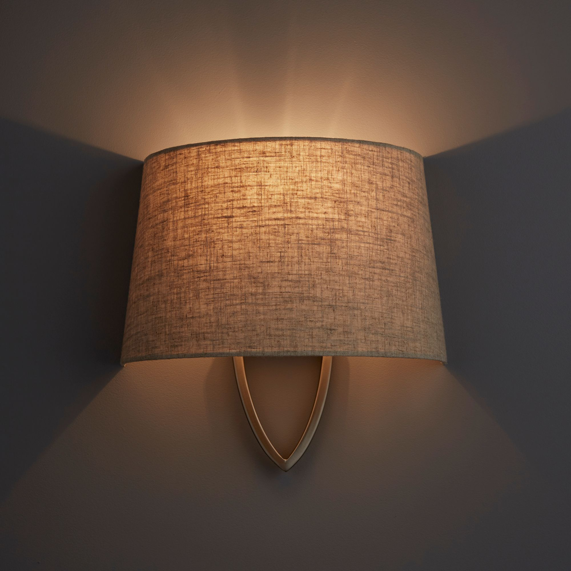 Diy At B Q: Hampstead Natural Linen Effect Wall Light