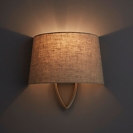 Hampstead Natural Linen Effect Wall Light
