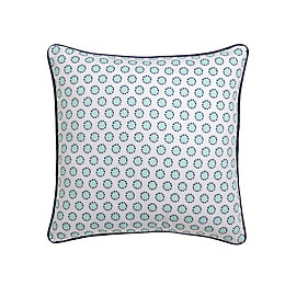 Flowerlet Blue & White Cushion