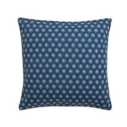 Flowerlet Blue Cushion