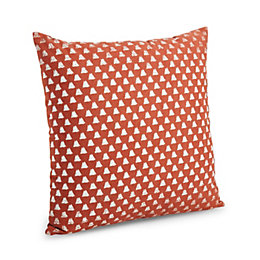 Cicely Triangle Terracotta Cushion