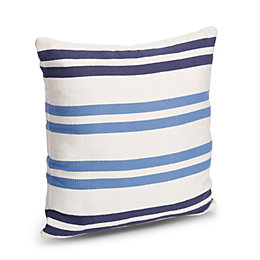 Cosette Striped Blue & Cream Cushion