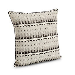 Clarenza Geometric Black & White Cushion