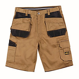 "Site Jackal Brown Multi-Pocket Shorts W38"" L10"""