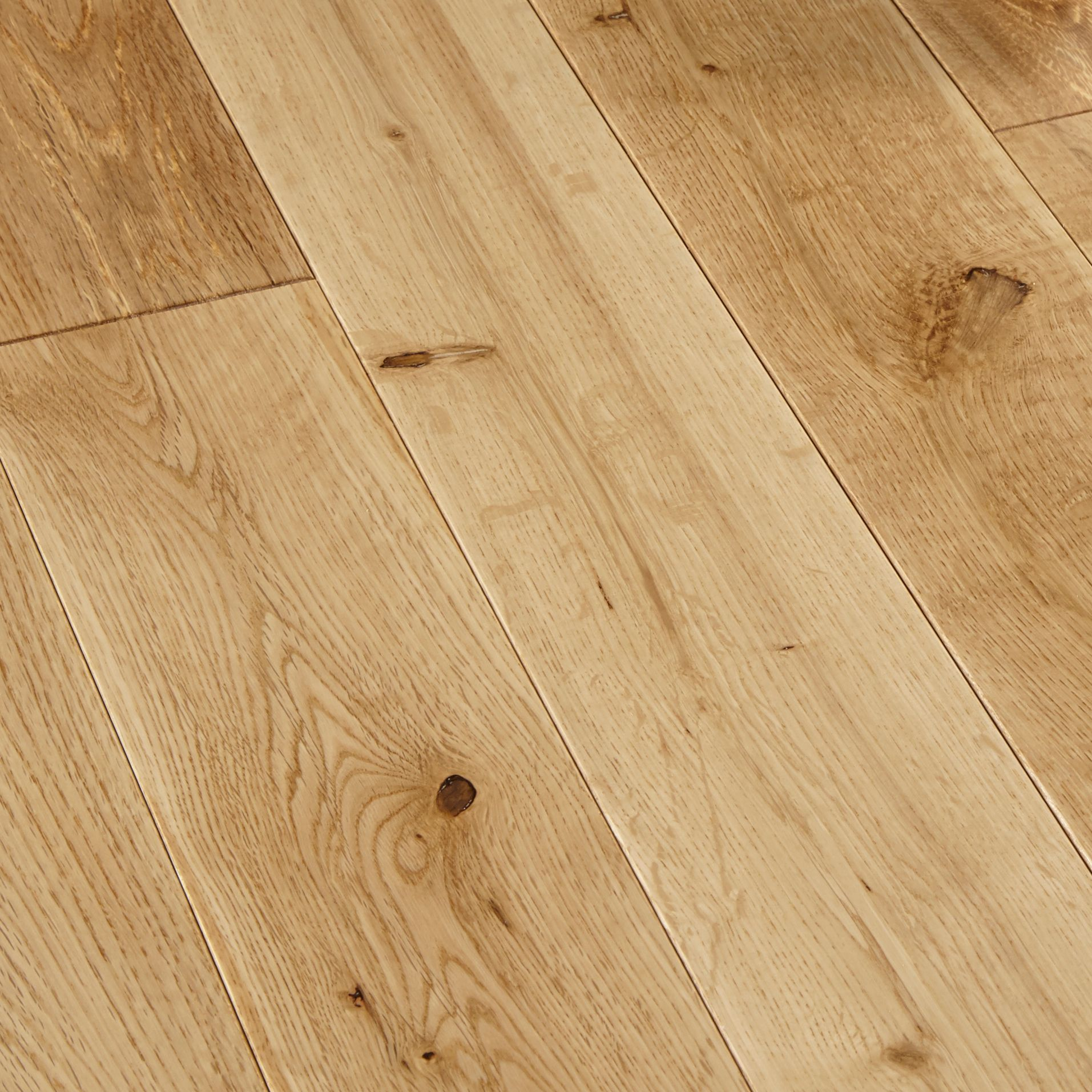 Colours rondo natural solid wood flooring m for Real oak hardwood flooring