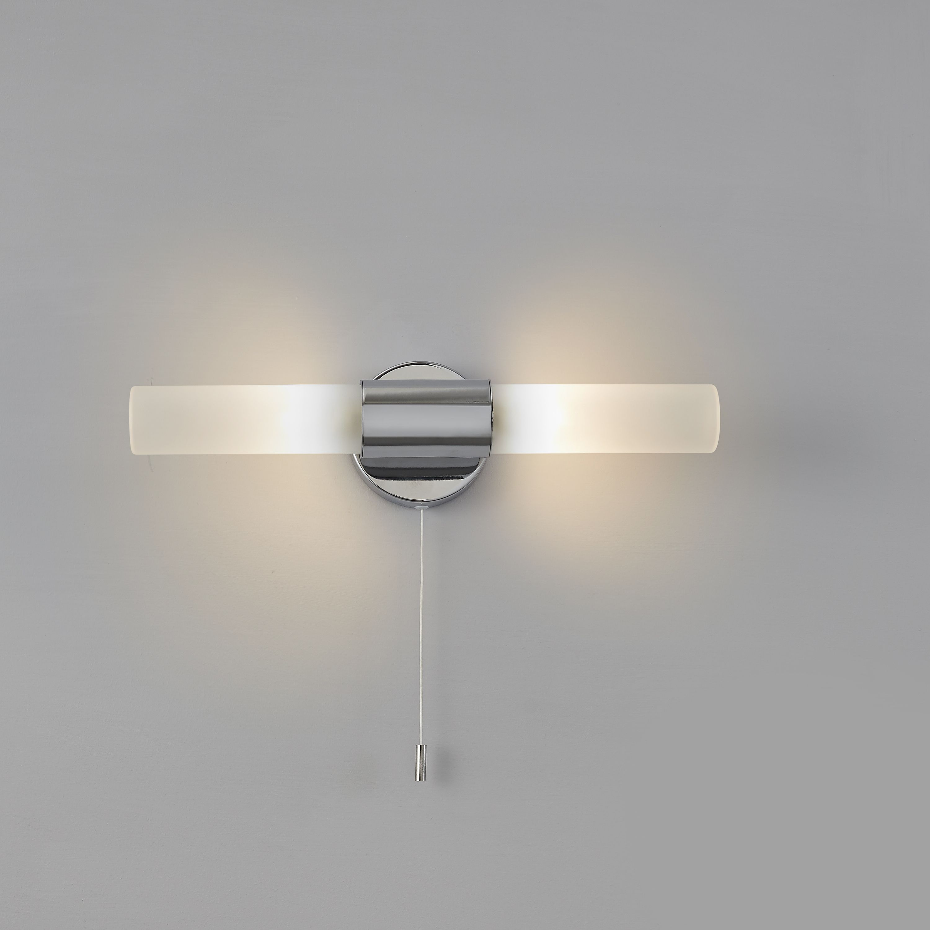 Float Chrome Effect Double Bathroom Wall Light Departments Diy At B Q