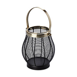 Black Wire Mild Steel Lantern, Small