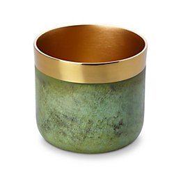 Green Gold effect Double tone Aluminium Votive