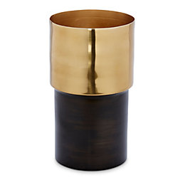 Black & Gold Effect Double Tone Aluminium Vase