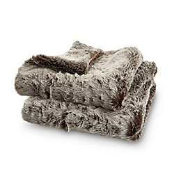 Brown Faux Fur Fur Throw