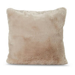 Faux Fur Taupe Cushion