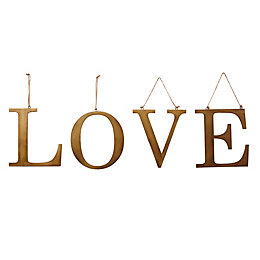 Gold effect Love Metal Hanging ornament