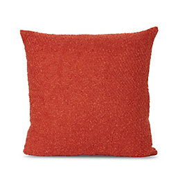 Boucle Yarn Terracotta Cushion