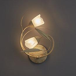 Cloe Leaf swirl Cream Double wall light