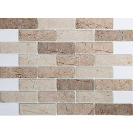 Assemini Brown Glass Mosaic tile, (L)298mm (W)262mm