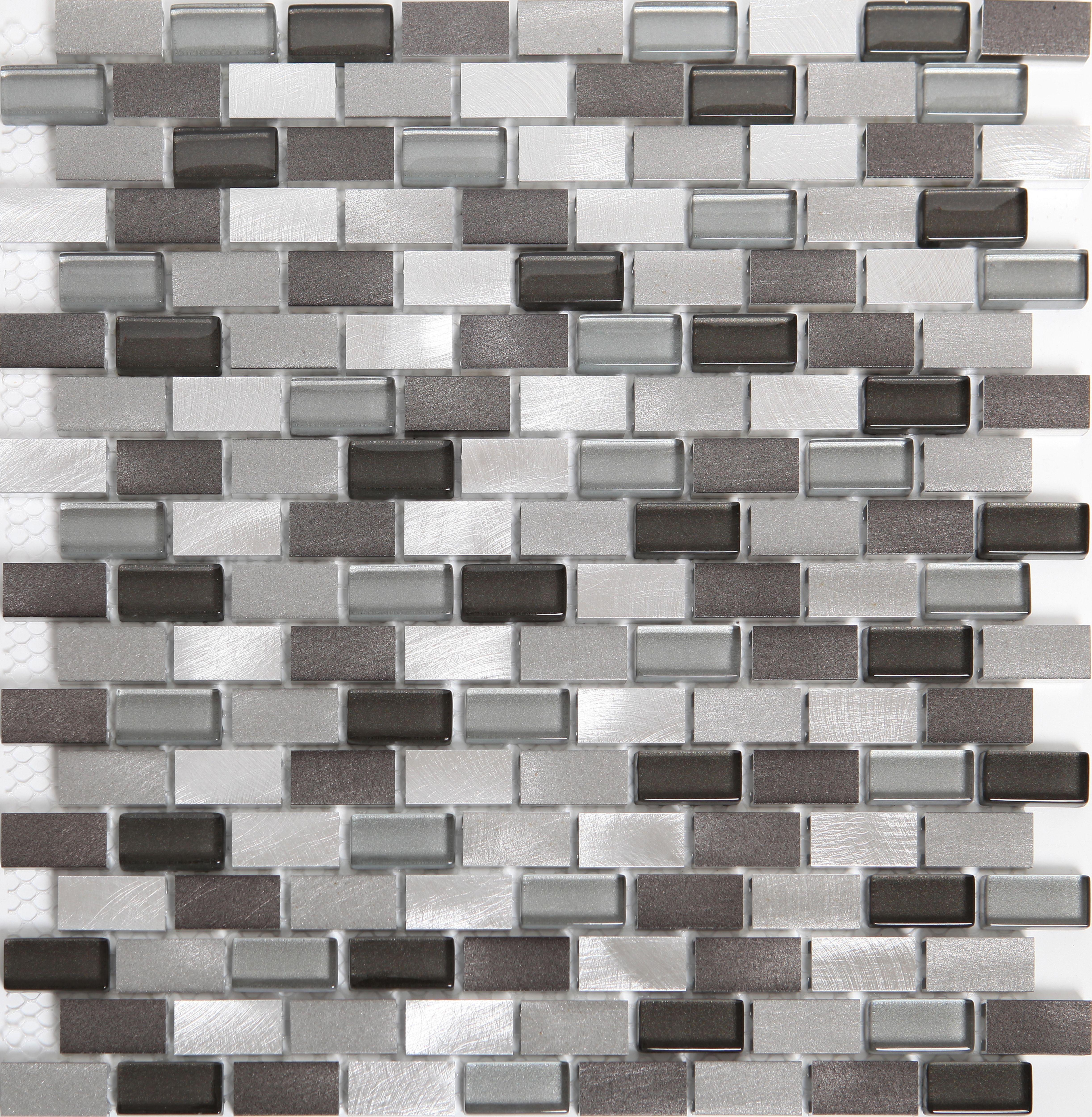 carini grey aluminum mosaic tile l 304mm w 292mm. Black Bedroom Furniture Sets. Home Design Ideas
