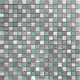 Adrano Grey Aluminum Mosaic tile, (L)304mm (W)292mm
