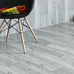 Damaso Grey Wood effect Porcelain Floor tile, Pack