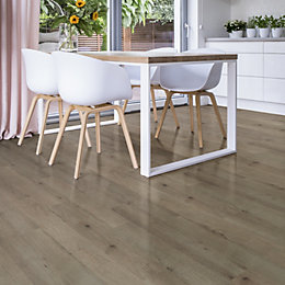Colours Dolce Grey Laminate flooring 1.19 m² Pack