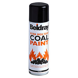 Beldray Black Matt Coal Spray Paint 300 ml