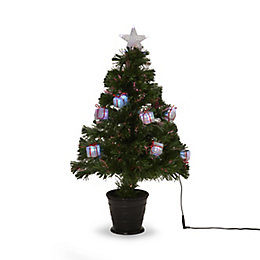 2ft 6in Parcel Fibre Optic Christmas tree