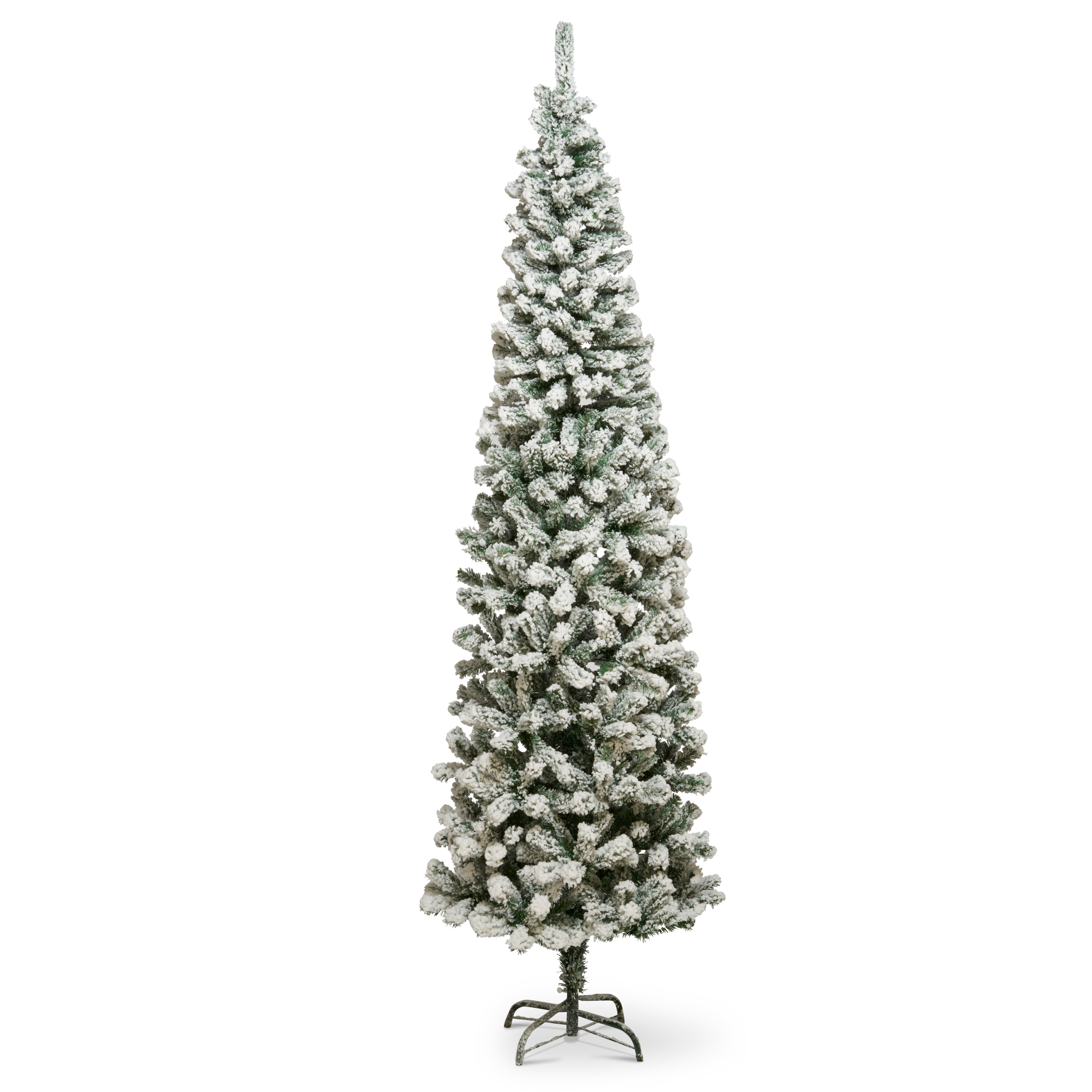online store 52e2b b3ac8 7ft 6in Flocked spruce pine Christmas tree   Departments   DIY at B&Q