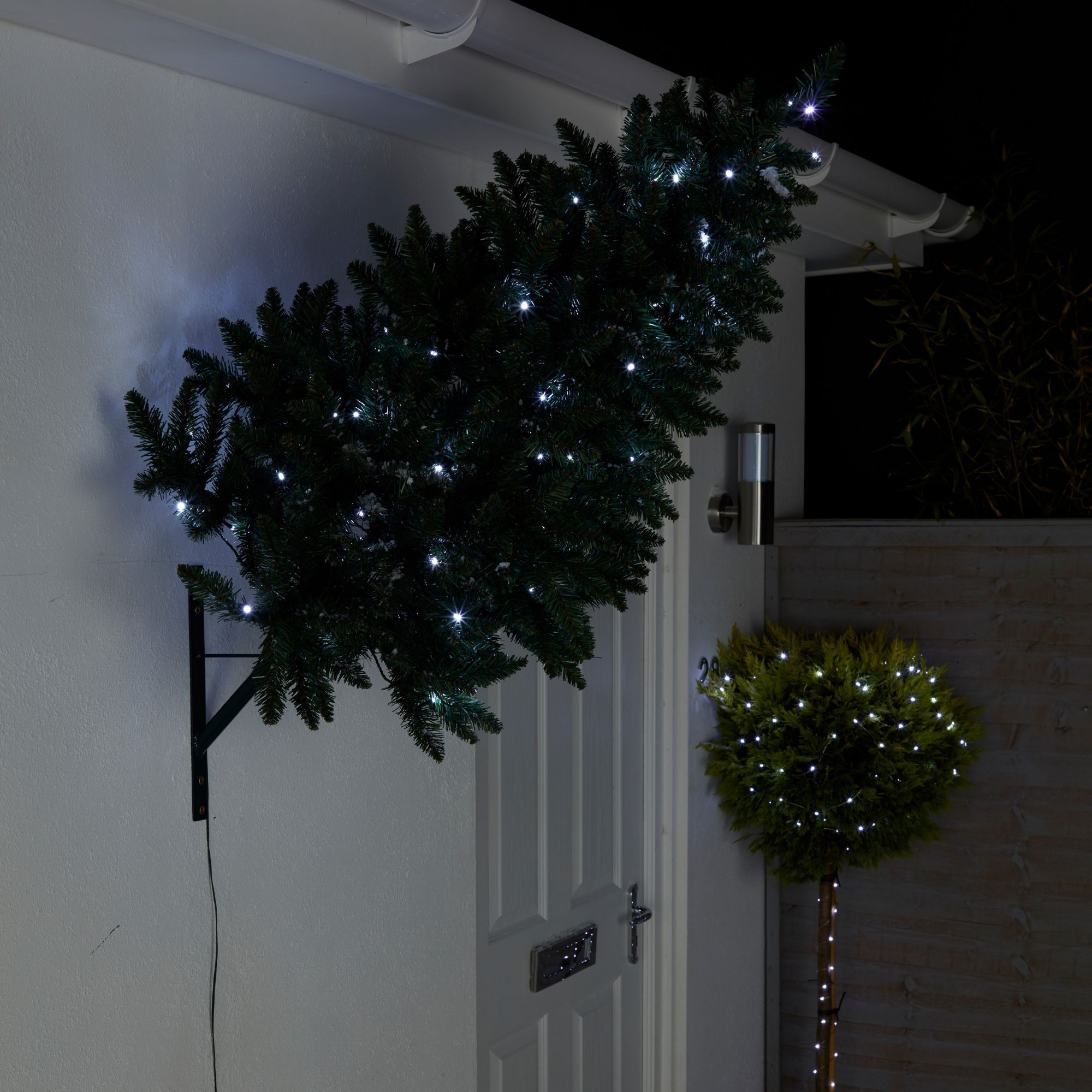 3ft Christmas Trees Artificial: 3ft Wall Mounted Pre-lit Artificial Christmas Tree