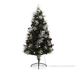 4ft 9in Snow tipped Fibre Optic Christmas tree