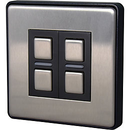 Lightwave 2-Way Brushed Smart Dimmer Switch of 1