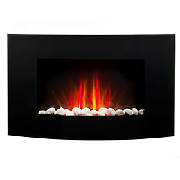 Beldray Black LED Remote control Electric fire