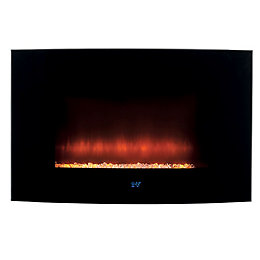 BELDRAY Black LED lighting Remote control Electric fire