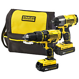 Stanley 1.3Ah Li-Ion Drill & Driver Twin Pack