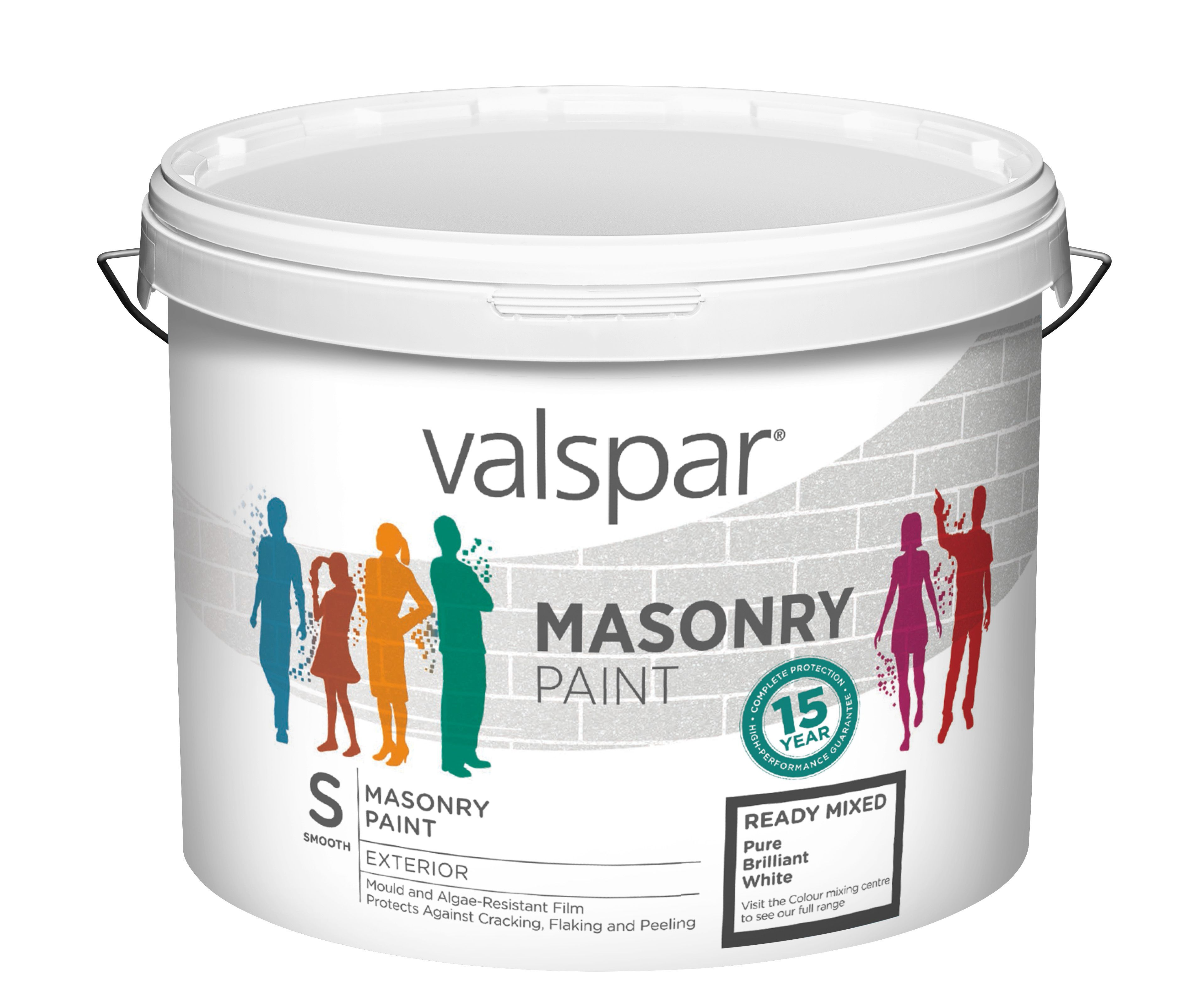 Valspar Pure Brilliant White Smooth Masonry Paint 10l Departments Diy At B Q