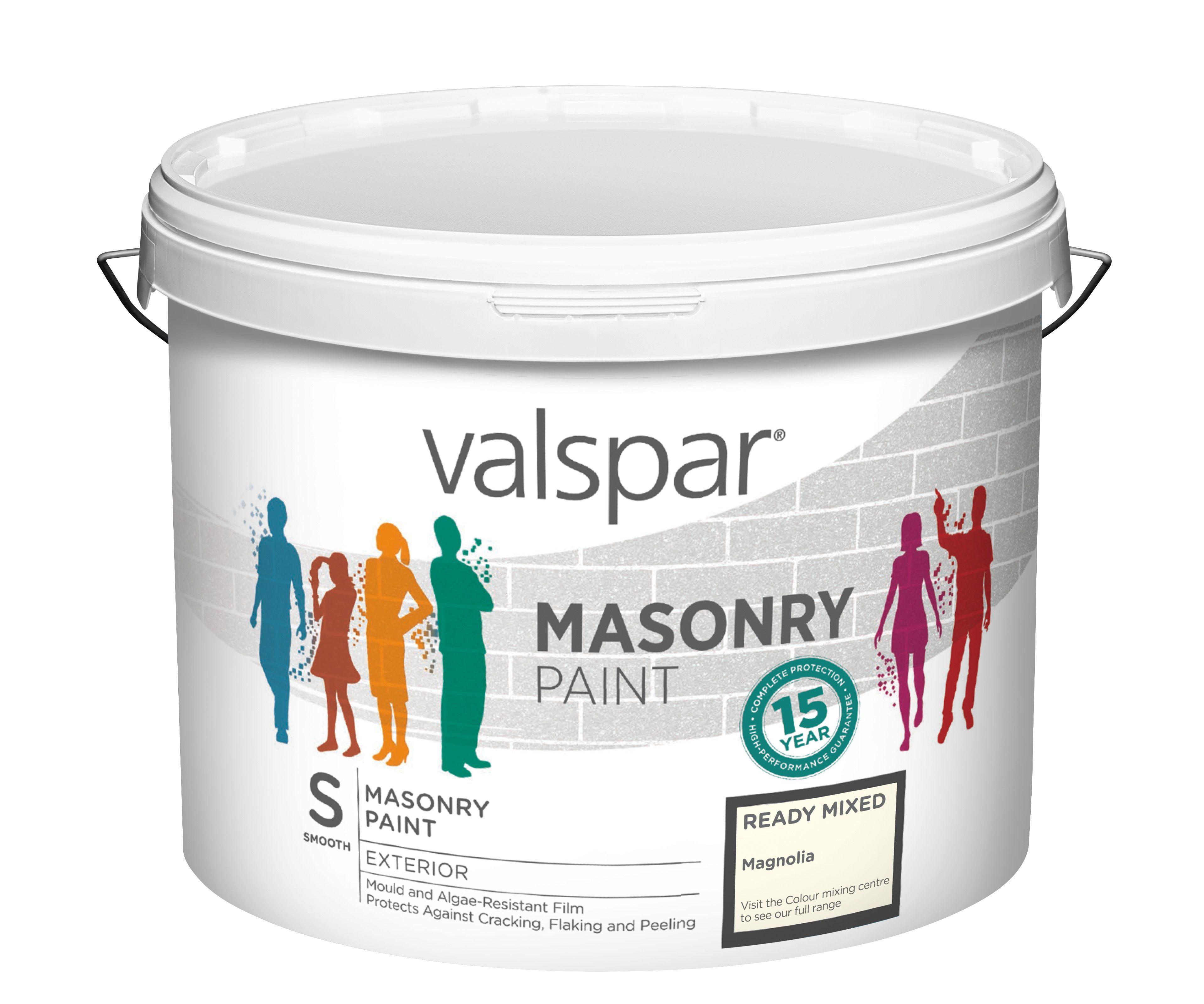 Valspar Magnolia Smooth Masonry paint 10L | Departments ...