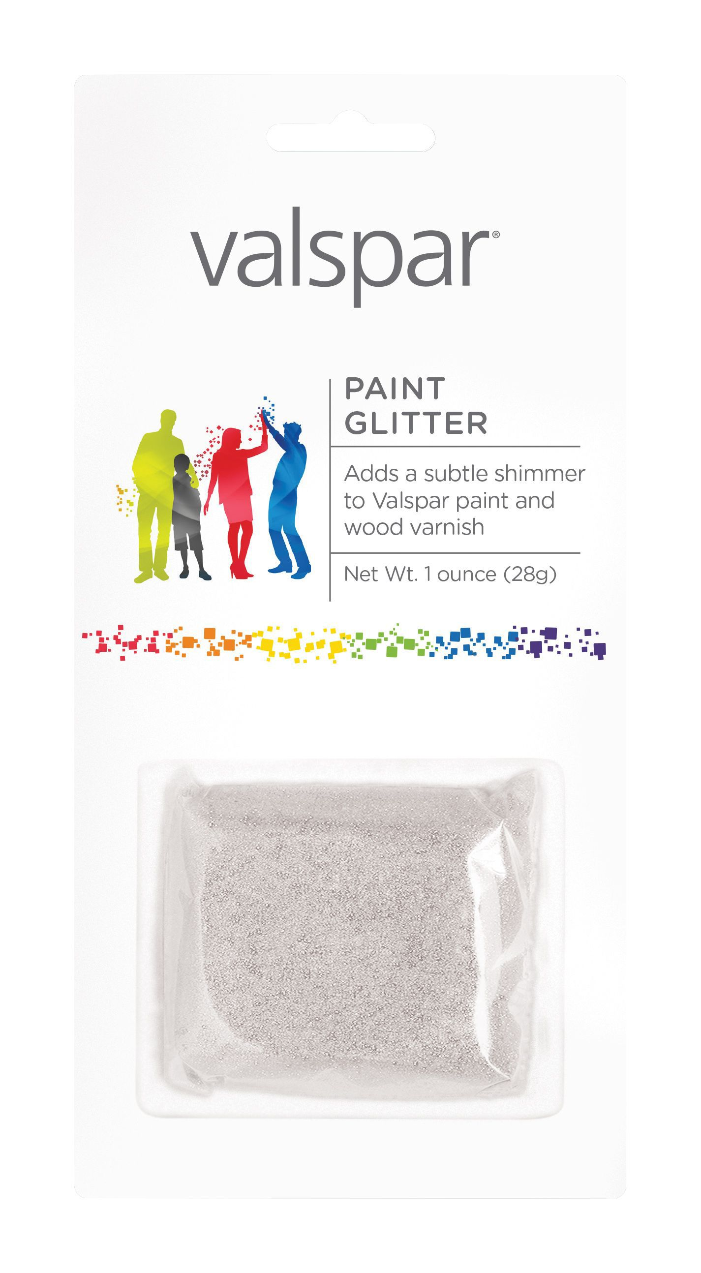 Valspar Silver Effect Paint Glitter Packet 28 G