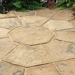 Autumn brown Minster Paving patio pack (L)2300 (W)2300mm