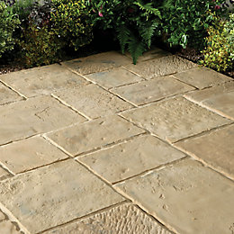 Autumn Brown Minster Paving Patio Pack (L)2.4 (W)2.4m